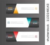 horizontal gradient color... | Shutterstock .eps vector #1133148143