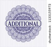 blue passport money rossete... | Shutterstock .eps vector #1133155973