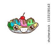 banana split vector illustration | Shutterstock .eps vector #1133158163