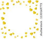 heart confetti background with... | Shutterstock .eps vector #1133169773