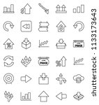 thin line vector icon set  ...   Shutterstock .eps vector #1133173643