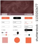 dark orange vector design ui...