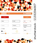 light orange vector design ui...