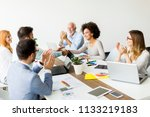 group of business people... | Shutterstock . vector #1133219183