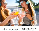 lose up pictures of two woman... | Shutterstock . vector #1133237987