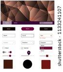 dark pink  red vector web ui...
