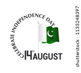 14th august  independence day... | Shutterstock .eps vector #1133248397