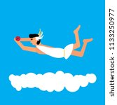 olympic god flying in the sky.... | Shutterstock .eps vector #1133250977
