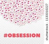 social media icons. social... | Shutterstock .eps vector #1133310227