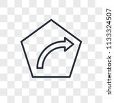 turn right vector icon isolated ... | Shutterstock .eps vector #1133324507