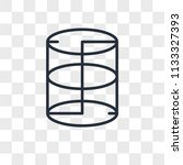 cylinder vector icon isolated... | Shutterstock .eps vector #1133327393