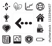 set of 13 simple editable icons ... | Shutterstock .eps vector #1133346437