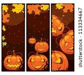 vector halloween banner | Shutterstock .eps vector #113334667