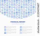 financial report concept with... | Shutterstock .eps vector #1133435687
