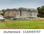 the tulum ruins in the riviera...   Shutterstock . vector #1133455757