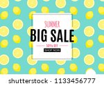 abstract summer sale background ... | Shutterstock .eps vector #1133456777