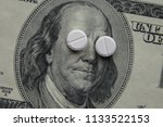 the pills lie in place of the... | Shutterstock . vector #1133522153