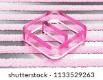 pink minus in square glass icon ... | Shutterstock . vector #1133529263
