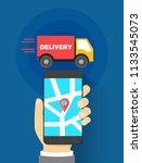 shipment trace tracker... | Shutterstock .eps vector #1133545073