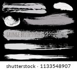 paint lines grunge collection.... | Shutterstock .eps vector #1133548907