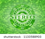stereo realistic green mosaic... | Shutterstock .eps vector #1133588903