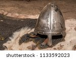 replica of a medieval warrior... | Shutterstock . vector #1133592023