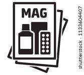 icon pictogram  magazine ... | Shutterstock .eps vector #1133604407