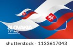 slovakia independence day flag... | Shutterstock .eps vector #1133617043