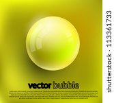 bubbles on a yellow background. ... | Shutterstock .eps vector #113361733