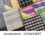 traditional fabrics local hand...   Shutterstock . vector #1133633897