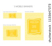 three banners for mobile phone. ... | Shutterstock .eps vector #1133647373