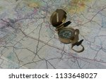 a compass and a road map of new ...   Shutterstock . vector #1133648027