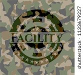 facility on camouflaged pattern   Shutterstock .eps vector #1133679227