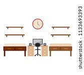 student dorm room | Shutterstock .eps vector #1133693393