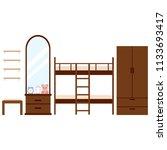 student dorm room | Shutterstock .eps vector #1133693417
