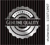 genuine quality silver badge or ... | Shutterstock .eps vector #1133713907