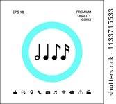 symbol of music  notes.... | Shutterstock .eps vector #1133715533