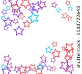 colorful stars confetti ... | Shutterstock .eps vector #1133722643