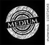 medium chalk emblem | Shutterstock .eps vector #1133724143
