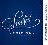limited hand lettering  ... | Shutterstock .eps vector #113372737