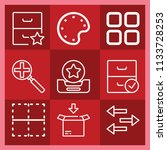 interface related set of 9... | Shutterstock . vector #1133728253