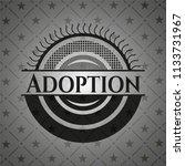 adoption black emblem | Shutterstock .eps vector #1133731967