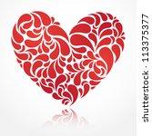 vector heart illustration for... | Shutterstock .eps vector #113375377
