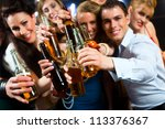 young people in club or bar... | Shutterstock . vector #113376367