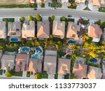 aerial view of houses in the... | Shutterstock . vector #1133773037