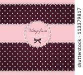 Pink Polka Dot Card With Frame...