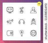 modern  simple vector icon set... | Shutterstock .eps vector #1133831693