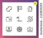 modern  simple vector icon set...   Shutterstock .eps vector #1133835293