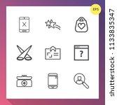 modern  simple vector icon set...   Shutterstock .eps vector #1133835347