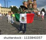 a fan from mexico  who came to...   Shutterstock . vector #1133840357
